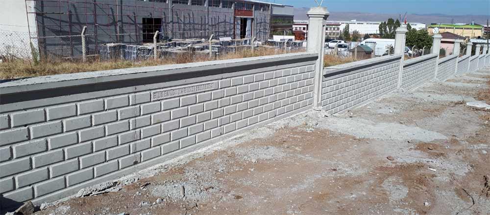 sakarya desenli bahçe duvarı yapımı beton duvar adapazarı